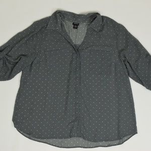 Torrid Plus 4 Gray   Blouse Polyester Solid